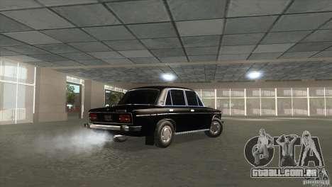 2103 Vaz para GTA San Andreas traseira esquerda vista