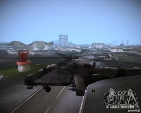 Mi-35 para GTA Vice City vista traseira