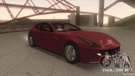 Ferrari FF 2011 V1.0 para GTA San Andreas vista traseira