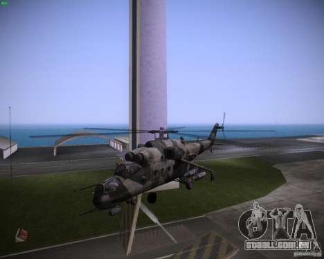 Mi-35 para GTA Vice City deixou vista