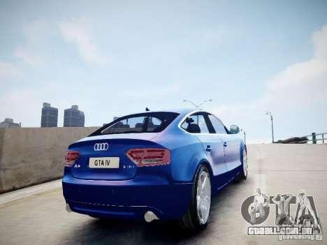 Audi A5 Sportback para GTA 4 esquerda vista