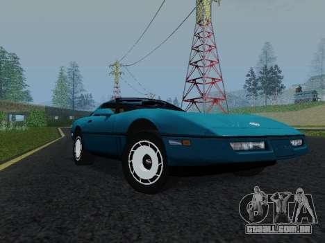 Chevrolet Corvette C4 1984 para GTA San Andreas esquerda vista
