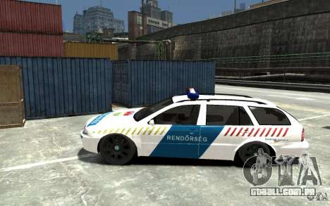 Skoda Octavia Kombi 2005 Hungarian Police para GTA 4 esquerda vista
