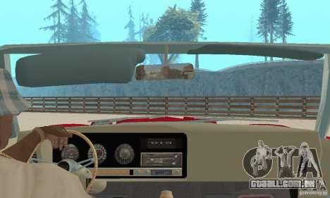 Pontiac GTO The Judge Cabriolet para GTA San Andreas vista interior