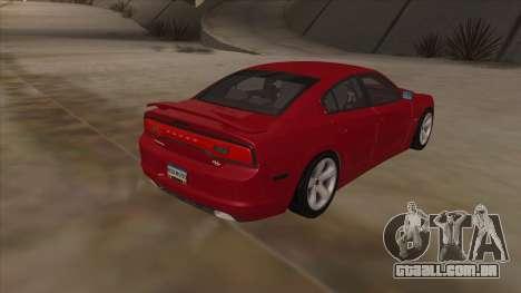 Dodge Charger RT 2011 V1.0 para GTA San Andreas vista traseira