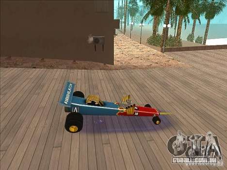 Dragg car para GTA San Andreas esquerda vista