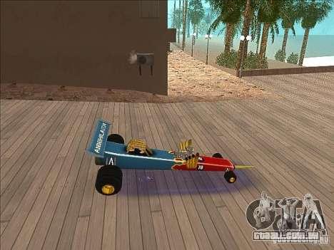 Dragg car para GTA San Andreas esquerda vista