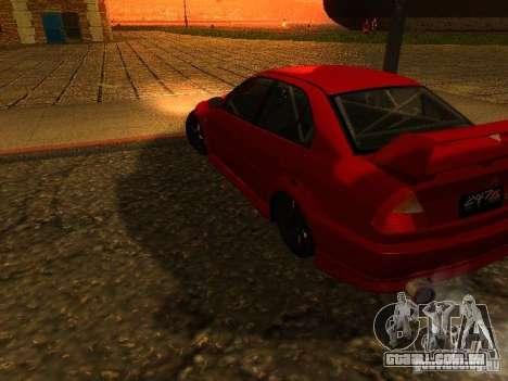 Mitsubishi Lancer Evolution VI GSR 1999 para GTA San Andreas esquerda vista