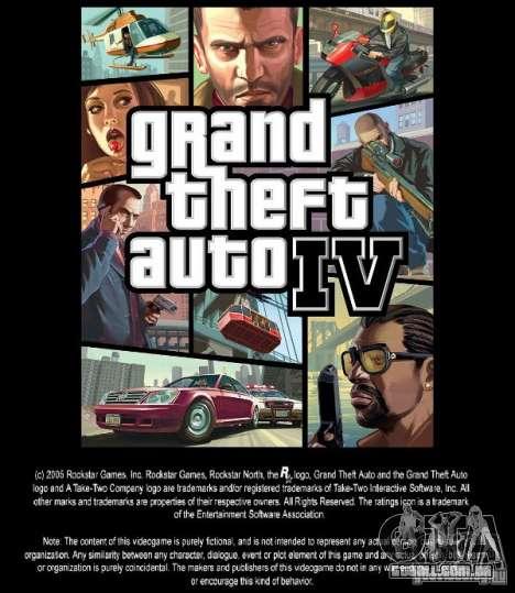 Imagens de inicialização no estilo do GTA IV para GTA San Andreas