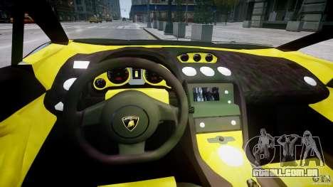 Lamborghini Gallardo para GTA 4 vista de volta