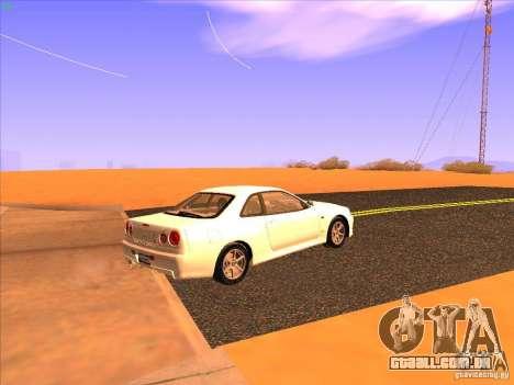Nissan Skyline R34 Tunable para GTA San Andreas vista direita