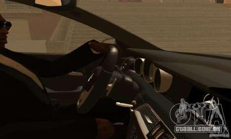 Mercedes-Benz C63 AMG para GTA San Andreas interior