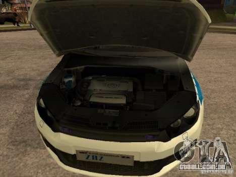 Volkswagen Scirocco German Police para GTA San Andreas vista direita