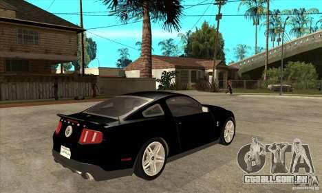 Ford Shelby GT 500 2010 para GTA San Andreas vista direita