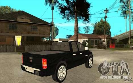 Dodge Ram 2500 2008 para GTA San Andreas vista direita