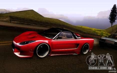 Honda NSX VielSide Cincity Edition para GTA San Andreas traseira esquerda vista