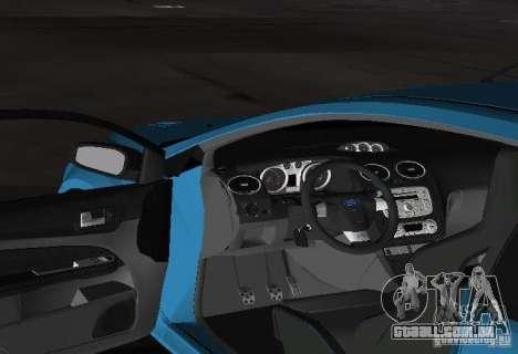 Ford Focus RS 2009 para GTA Vice City vista traseira