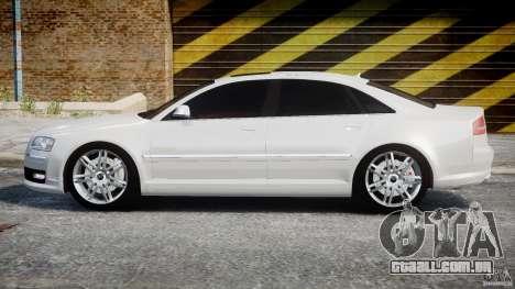 Audi S8 D3 2009 para GTA 4 esquerda vista