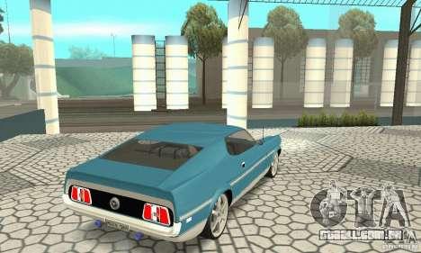 Ford Mustang Mach 1 1971 para GTA San Andreas esquerda vista