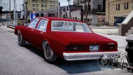 Chevrolet Impala 1983 v2.0 para GTA 4 traseira esquerda vista