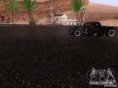 Ford Pickup Ratrod 1936 para GTA San Andreas vista superior