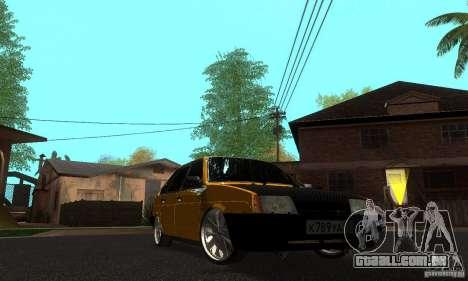 VAZ 2109 luz Tuning para GTA San Andreas vista traseira