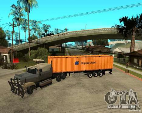 Krone Trailer Hapag-LLoyd para GTA San Andreas esquerda vista