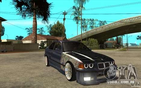 BMW E36 M3 Street Drift Edition para GTA San Andreas vista traseira