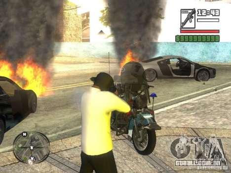 Black Helmet para GTA San Andreas terceira tela