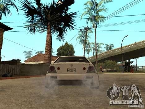 Lexus IS300 NFS Carbon para GTA San Andreas traseira esquerda vista
