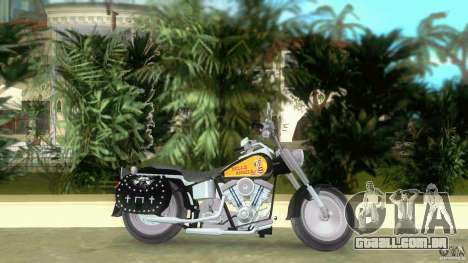 Harley Davidson FLSTF (Fat Boy) para GTA Vice City deixou vista