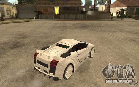 Lamborghini Gallardo MW para GTA San Andreas vista direita