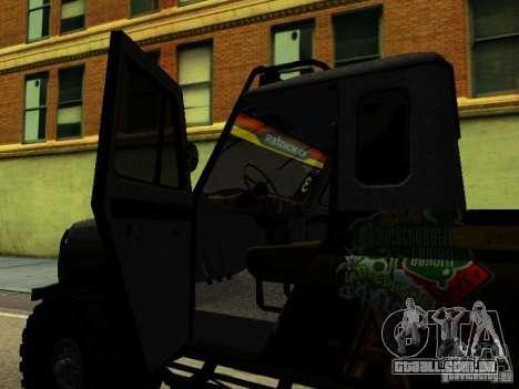 UAZ 469 JULGAMENTO para GTA San Andreas vista traseira