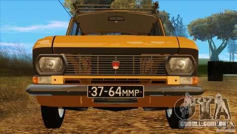 Moskvich 412 v 2.0 para vista lateral GTA San Andreas