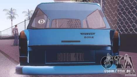 Trabant 601S para GTA San Andreas vista direita