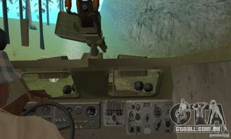 BRDM-1 pele 3 para GTA San Andreas vista interior