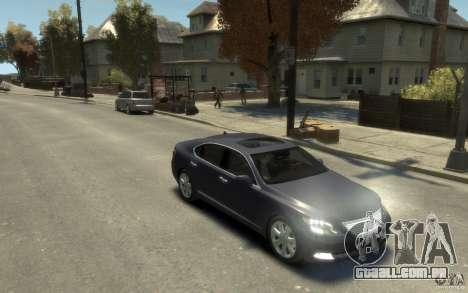 Lexus LS 600h L v1.1 para GTA 4 vista de volta