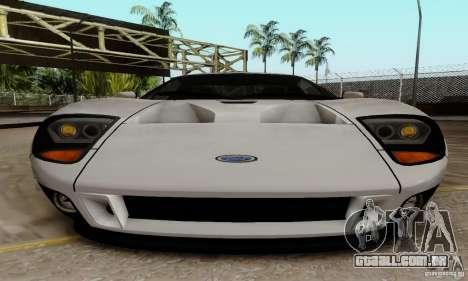 Ford GT 2005 para GTA San Andreas vista interior