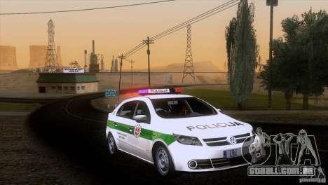 Volkswagen Voyage Policija para GTA San Andreas traseira esquerda vista