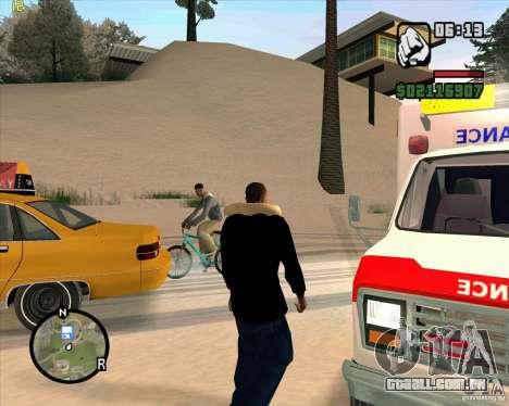 Ambulância para GTA San Andreas por diante tela