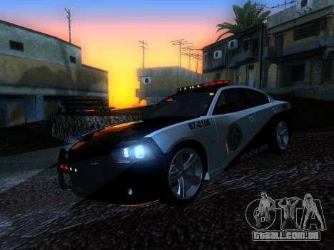 Dodge Charger SRT8 Police para GTA San Andreas vista traseira