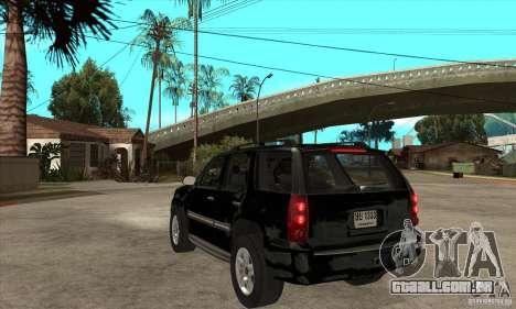 GMC Yukon 2008 para GTA San Andreas traseira esquerda vista