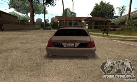 Ford Crown Victoria para GTA San Andreas vista direita