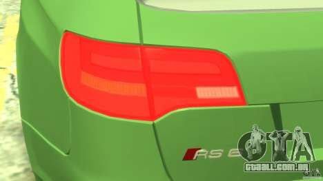 Audi RS6 Avant 2010 Stock para GTA 4 vista interior