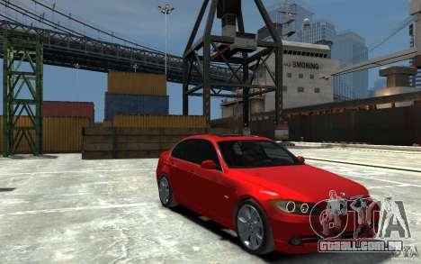 BMW 330i E90 para GTA 4 vista de volta