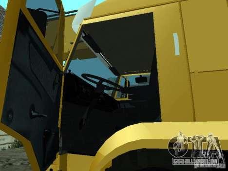 KAMAZ 65117 Ivanovets para GTA San Andreas vista interior