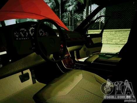 Mercedes-Benz S-Class W140 para GTA San Andreas vista traseira