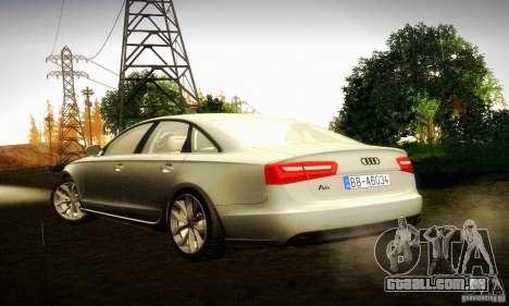 Audi A6 2012 para GTA San Andreas esquerda vista