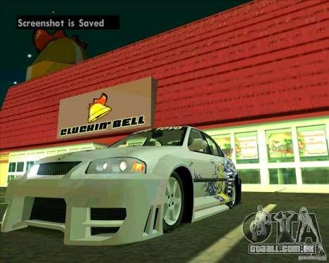 Nissan Sentra para GTA San Andreas vista direita