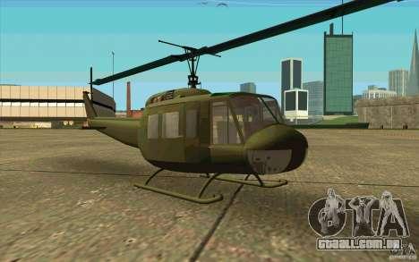 UH-1D Slick para GTA San Andreas esquerda vista